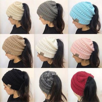 CREYON9X New women hat CC Trendy Warm Oversized Chunky Soft Oversized Cable Knit Slouchy Beanie [2974244213]