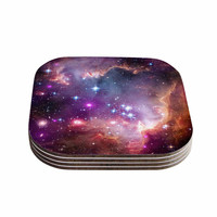 "Suzanne Carter ""Cosmic Cloud"" Celestial Purple Coasters (Set of 4)"