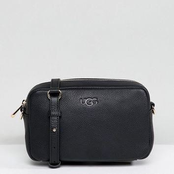 UGG Janey Black Leather Crossbody Bag at asos.com