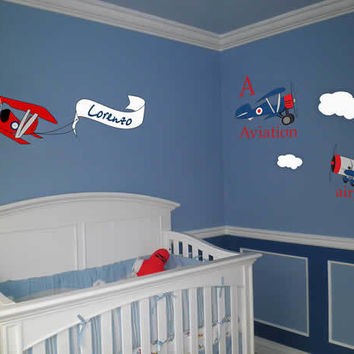Graphic Wall Vinyl Decal Sticker Airplane Collection #MM105