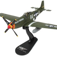 """North American P-51 Mustang """"Old Crow"""" 1/48 Scale Diecast Metal Airplane by Hobby Master"""