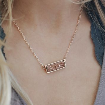 Spark a Fire Necklace - Rose Gold