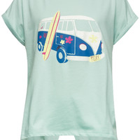 Roxy Vw Bus Girls Tulip Back Tee Mint  In Sizes