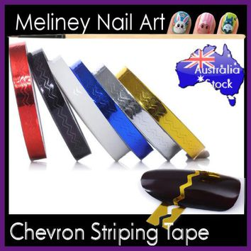 Chevron Striping tape Nail Art Lines Manicure Stickers decoration Wave