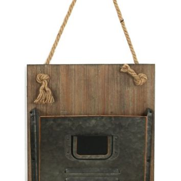 Crystal Art Gallery Wood & Metal Hanging Mail Holder | Nordstrom