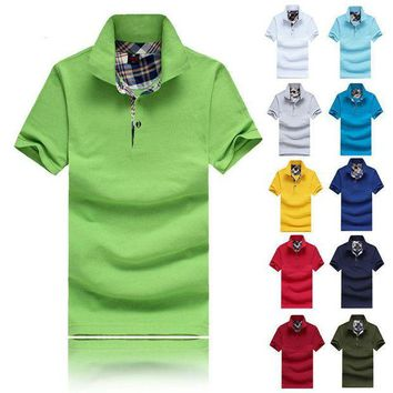 ONETOW Men's Style Polo Shirts, Summer Casual cotton sleeve Solid Slim Tees Male Golf Sport