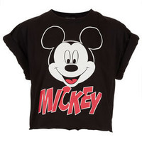 Mickey Crop Top - Bralets & Cropped Tops - Jersey Tops  - Clothing