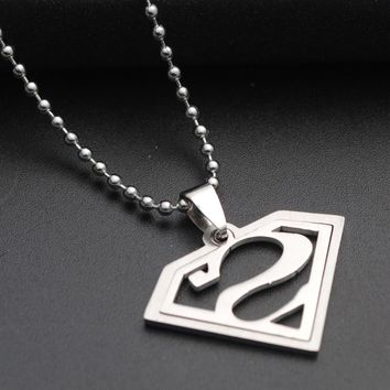 Trendy Superman Dog Tag Necklaces for Best Friends Link Chain Cosplay S Logo Pendant Men's Necklace Male Neckless Women Gfits