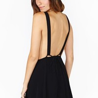 Nasty Gal Sweet Suspense Dress - Black