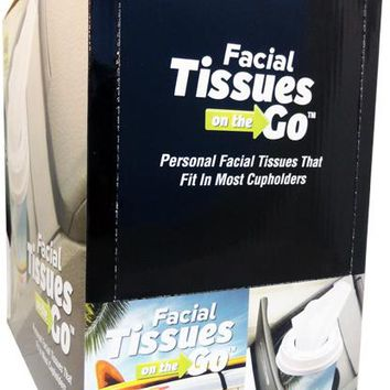 Coffee Cup 40 Count Facial Tissues To Go - 24 Units