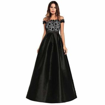 Ruiyigewomen Evening Party Strapless Lace Patchwork Maxi dress Backless Zipper Hide Lining Long Prom Vested