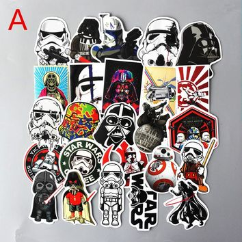 TD ZW 25Pcs/Set Star wars Waterproof Funny Stickers For Luggage Laptop Bike Motorcycle Phone Car Case Decal Sticker