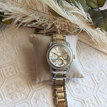 Gossip Gold & Silver Stainless Steel Crystal Watch