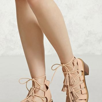 Tasseled Faux Leather Heels