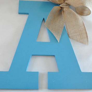 Personalized letter for front door, Wreath, letter wreath