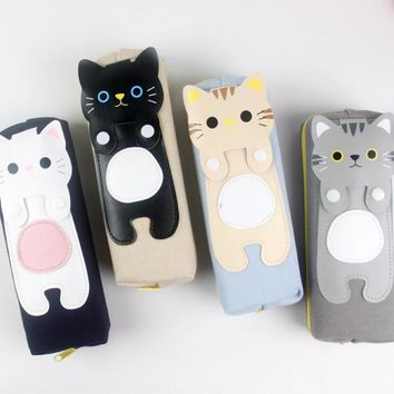 Cat pencil case Kawaii kalem kutusu Cartoon estojo escolar pen case pencil box trousse scolaire stylo papelaria kalem kutu