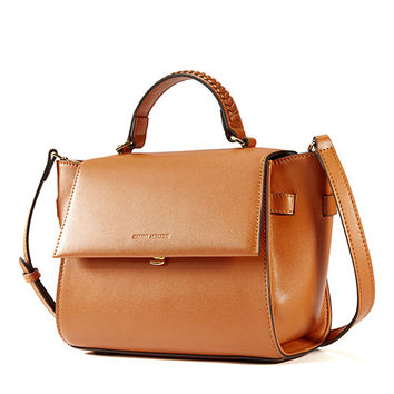 Stylish Trapeze Leather Shoulder Bag