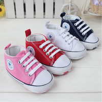 Lovely 4 Colors Star Boy's and Girl's Very Soft Sole Non-Slip Shoes Baby First Walkers Baby Shoes