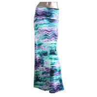 Lovin' the Season Purple Wave Maxi Skirt