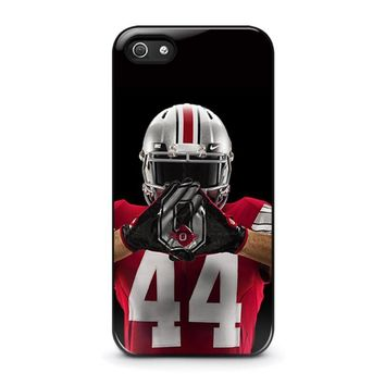 ohio state buckeyes football iphone 5 5s se case cover  number 1