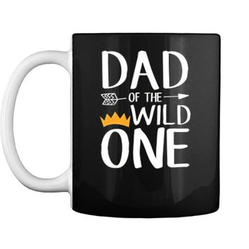 Funny  Awesome Dad Of The Wild One Thing 1st Birthday Mug