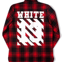 """WHITE"" Check Flannel Shirt"