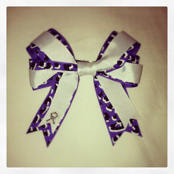Chiari Malformation Awareness Hair Bow