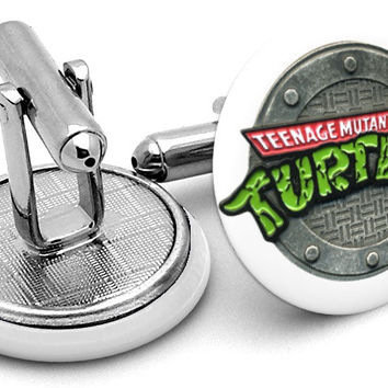 Ninja Turtles Teenage Mutant Sewer Cufflinks