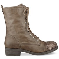 G by GUESS Women's Captain Lace Up Combat Booties