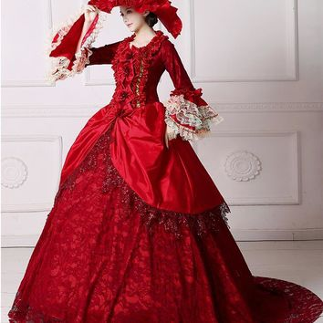 Romantic Renaissance Victorian Dresses Cosplay Masquerade Costumes Ball Gowns