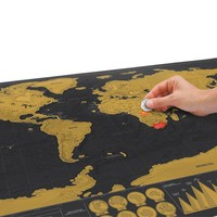 Scratch Map Deluxe - Personalised World Map Poster