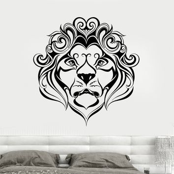 Vinyl Wall Decal Lion King African Animal Head Art Decor Stickers Unique Gift (1713ig)