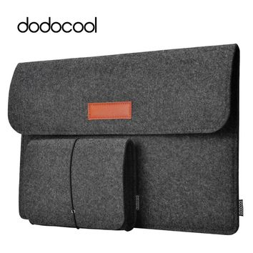"""dodocool 12"""" 13"""" Laptop Bag Case Felt Sleeve Cover Carrying Case 4 Compartment with Mouse Pouch for Apple 13"""" MacBook Air Pro"""