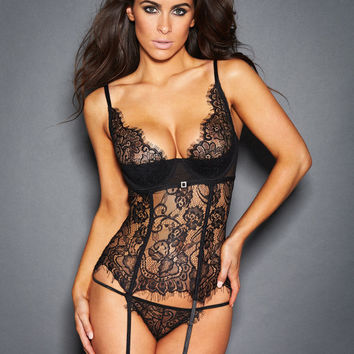 Dana Lace And Diamante Corset