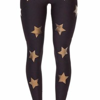 Gold Star Embellished Yoga Leggings