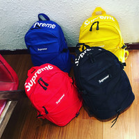 Supreme Casual Sport Laptop Bag Shoulder School Bag Backpack  1898