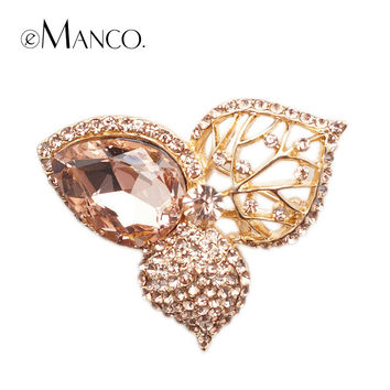 Fashion Luxury Large Crystal Full Clover Brooch eManco 2014 New High Quality Fashion bijoux Creative Christmas gift BR02776