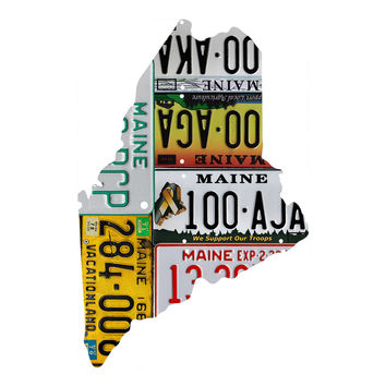 Maine License Plate wall decal