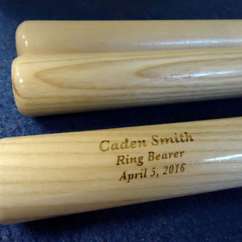 Custom Personalized Engraved Mini Baseball Bat, Ring Bearer, Groomsmen, Birthday, Christmas Gift, Baby Announcement, Keepsake