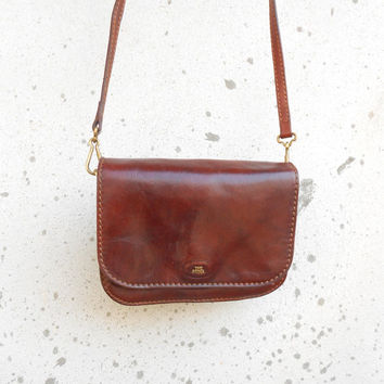 Vintage THE BRIDGE Leather Purse , Crossbody // Small // Made in Italy