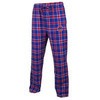 Chicago Cubs Acclaim Plaid Flannel Pajama Pants – Royal Blue