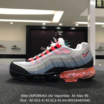"Nike Air Max 95 Neon"" VAPOR MAX Gray Red Sports Running Shoes Sneaker"