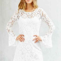 Oh My Love Lace Bell-Sleeve Dress