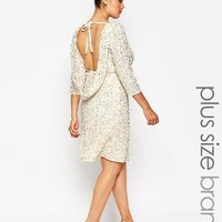 Lovedrobe | Lovedrobe Embellished Body-Conscious Dress With Cowl Back at ASOS
