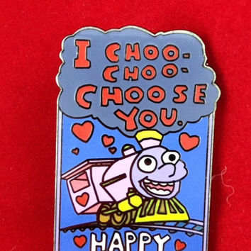 I Choo Choo Choose You Vday hatpin