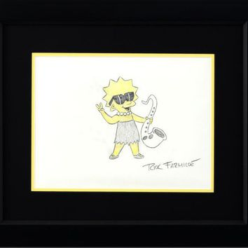 Lisa Simpson - Original Color Pencil Sketch on Paper by Rick Farmiloe
