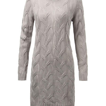 Chunky Cable Knit Sweater Maternity Dress