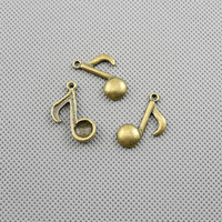 40x Making Jewellery Supply Supplies Charms Pendant Retro DIY Craft Alloys Antique Jewelry Findings A1051 Music Note