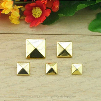 10mm 100pcs Pyramid Studs For Cell Phone Case Or Punk DIY Finding Accessories,Silver,Gold,Antique Brass And Black Gunmetal Are Available