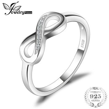 JewelryPalace Infinity Forever Love Anniversary Promise Ring